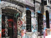 Graffito dos grafittis em Melbourne fotos de stock
