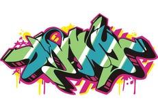 Graffito - many. Graffito text design - many. Color vector illustration Royalty Free Stock Photo