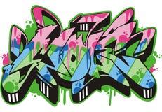 Graffito - mole. Graffito text design - mole. Color vector illustration Stock Photography