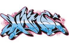 Graffito - name. Graffito text design - name. Color vector illustration Stock Photography