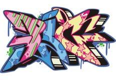 Graffito - pig. Graffito text design - pig. Color vector illustration Stock Photography