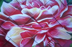 Graffito of a rose on a wall. Outdoor Royalty Free Stock Photos