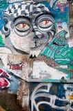 Graffitti abstrakt konst Arkivfoton