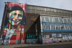 Graffitti de Anne Frank Amsterdam Fotografia de Stock