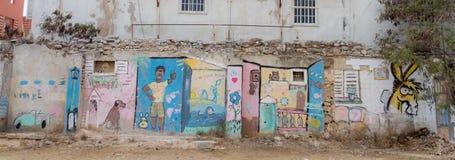 Graffitti de peinture murale d'Otrobanda photo stock