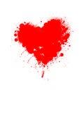 Graffitti del cuore Fotografie Stock