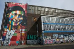 Graffitti di Anne Frank Amsterdam Fotografia Stock