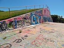Graffitti en el hormigón Foto de archivo libre de regalías