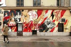Graffitti en una pared, Ljubljana, Eslovenia Foto de archivo libre de regalías