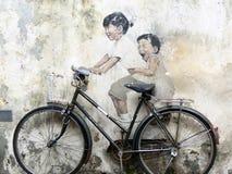 Graffitti in George Town, Penang Royalty-vrije Stock Fotografie