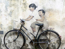 Graffitti in George Town, Penang Royalty Free Stock Photography
