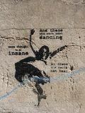 Graffitti in Kazimierz District van Kracow vroeger het Joodse Gebied van de stad in Polen stock afbeeldingen