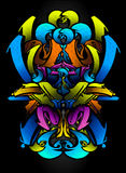 Graffitti sketch in vibrants colors. Ideal for urban design, graffitti events, customize colors cartoons, logos, frames, banners and other. This file is vector illustration