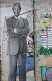 Graffitti-spraypaint Nelson Mandela stockfotografie