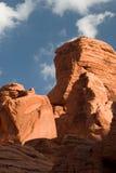 Graffitti sur la roche rouge Image libre de droits