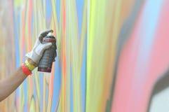 Graffitti und Kunst stockbilder