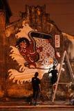Graffitti väggmålning Arkivbild
