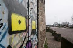 Graffitti van Amsterdam Royalty-vrije Stock Afbeeldingen