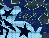 Graffitti Wall. A wall with graffitti on it Stock Images