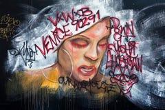 graffittiväggmålning royaltyfri bild