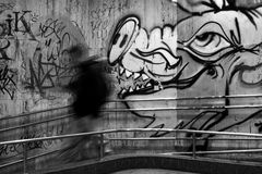 Graffity. Zlin city, Czech republic Stock Photography