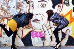 Graffity亲吻 库存照片