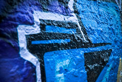 Graffity: Closeup of a Textured wall Royalty Free Stock Photo