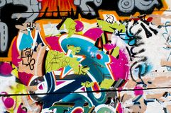 Graffity colorido Imagem de Stock Royalty Free