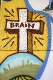 Graffity de cerveau Photo libre de droits