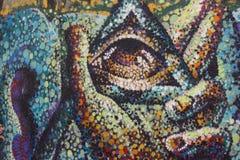Graffity del mosaico Fotografía de archivo