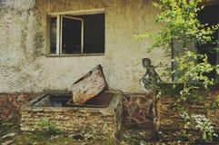 Graffity en Pripyat Fotos de archivo libres de regalías