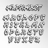 Graffity font  Stock Image