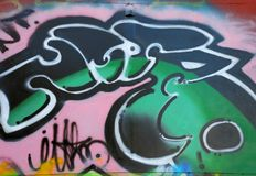 Graffity gentil Image stock