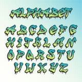 Graffity grunge font vector alphabet Stock Photography