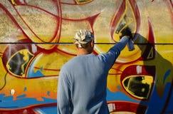 Graffity målare royaltyfri bild