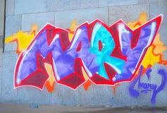 Graffity Mary Obrazy Stock
