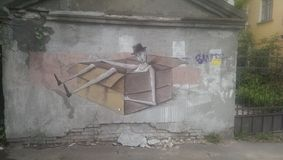 Graffity na parede Imagens de Stock