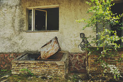 Graffity在Pripyat 免版税库存照片