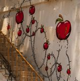 Graffity sul waal Fotografia Stock Libera da Diritti