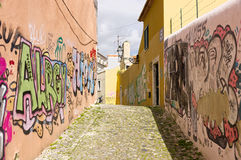 Graffity on wall in Lisbon Royalty Free Stock Photography
