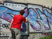 graffitymålare Arkivbild