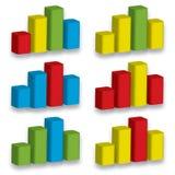 grafgåva för diagram 3D Arkivbild