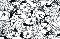 Grafic floral pattern on fabric. Stock Photos