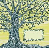 Grafic rama i drzewo. ilustracji
