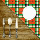 Grafic set. vintage cutlery.vectr illustration Royalty Free Stock Images