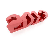 2013 grafic text rendered. 2013 year logo rendered isolated stock illustration