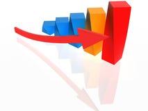 grafic vermelho e amarelo de 3d Foto de Stock