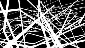 Grafici astratti di moto su fondo nero con le linee bianche trasversali royalty illustrazione gratis
