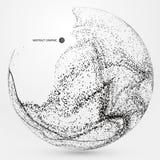 Grafici astratti irregolari, composizione dinamica nella particella Fotografie Stock