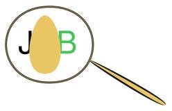 Grafici che illustrano l'individuazione del riassunto o di lavoro Immagini Stock